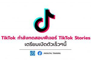 TikTok กำลังทดสอบฟีเจอร์ TikTok Stories เตรียมเปิดตัวเร็วๆนี้